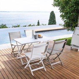 Tavolo rettangolare pieghevole per esterno Queen 120x80