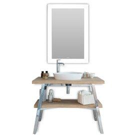 Composizione bagno Cape Cod con specchio e bacinella triovale