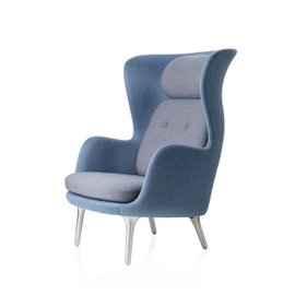 Ro Armchair with chrome-plated legs