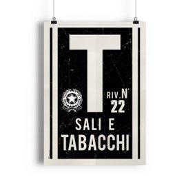 Póster Sali y tabacchi