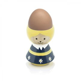 Girl Egg Cup in blue