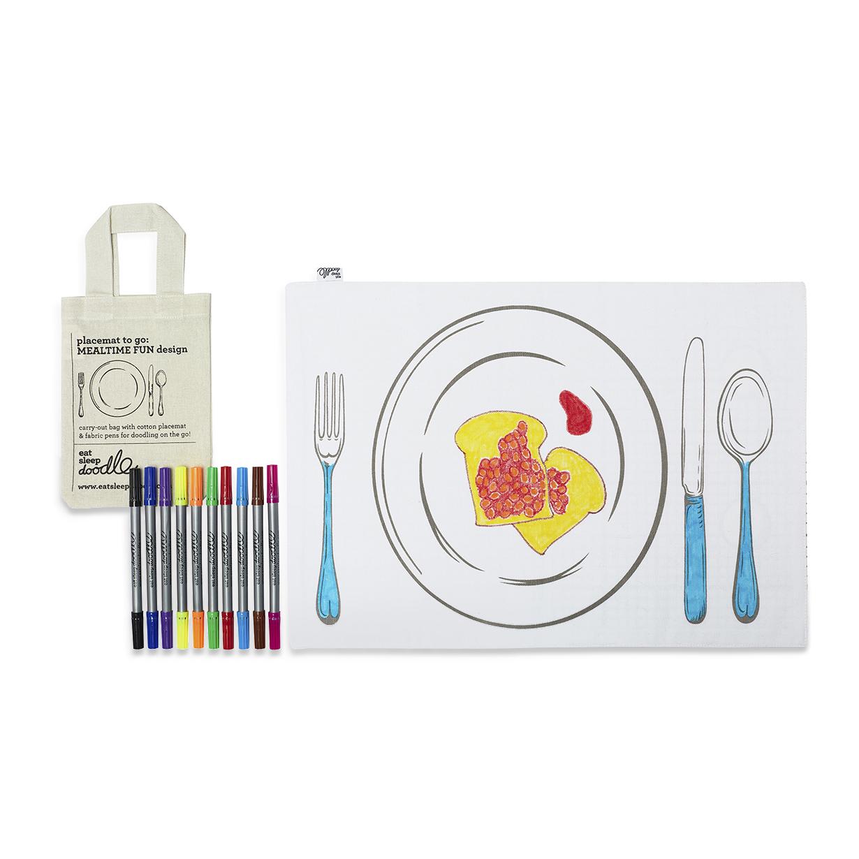 Image of Tovaglietta da colorare Doodle