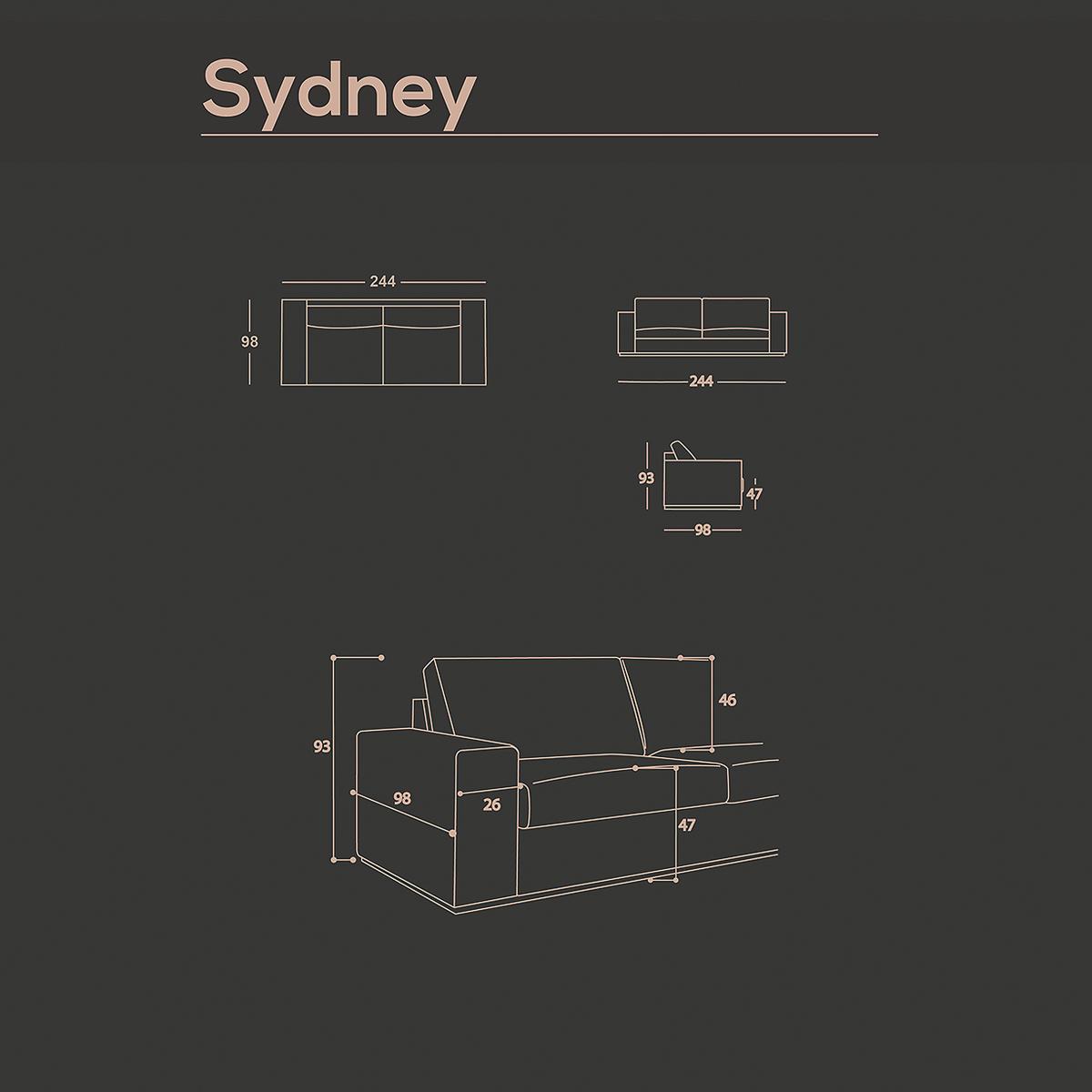 Canapé 3 places Sydney