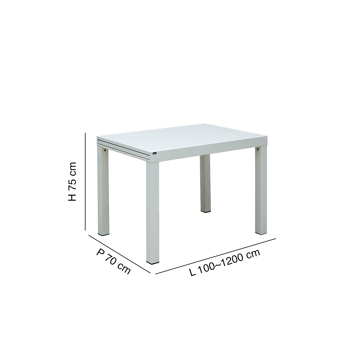Table L 100 Extensible Sofy 200 Cm mn0Nwv8O