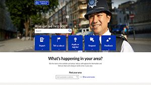 Metropolitan Police website - Britain's biggest police station