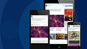 The Guardian app for iOS and Android