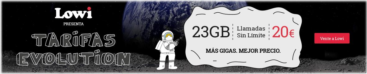 Tarifas Evolution: 23GB, llamadas sin límite a 20€