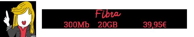 Menos pasta. Más velocidad. Trae tu fibra y consigue Fibra 300Mb más 20GB móvil por 39,95€
