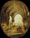 Capriccio with the Arcade of the Doge's Palace and San Giorgio Maggiore