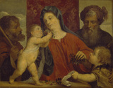 The Madonna of the Cherries (after Titian)