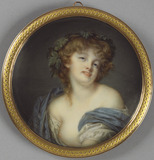 A Bacchante, after Greuze