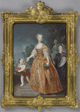 Marie Leczinska, Queen Consort of Louis XV, after J. B. Van Loo