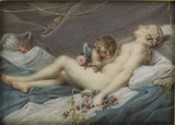 Venus and Cupid asleep