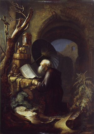 A Hermit at Prayer