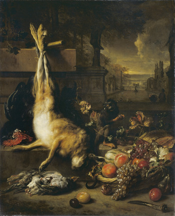 Dead Hare, Fruit and Monkey