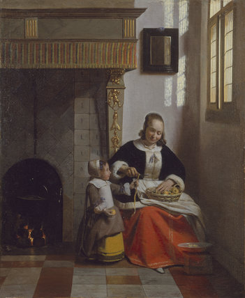 A Woman peeling Apples