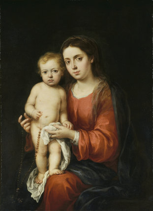 The Virgin and Child with a Rosary