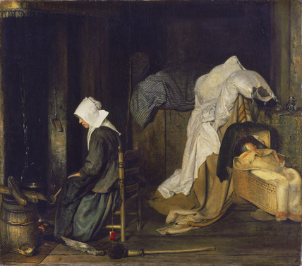 Interior with Woman Cooking