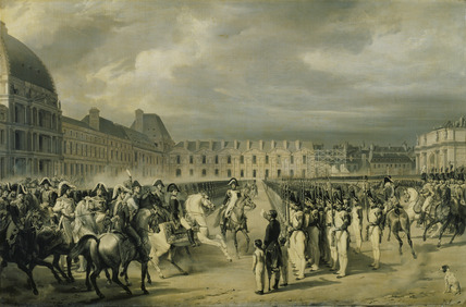 Napoleon reviewing the Guard in the place du Carrousel