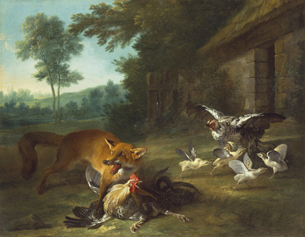 Fox in the Poultry Yard