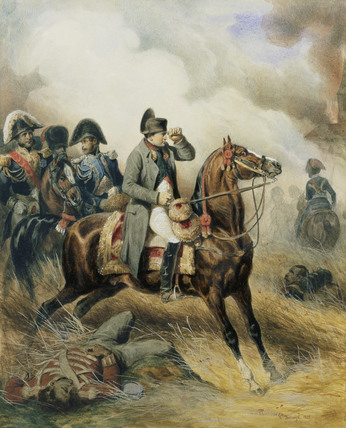 Napoleon on a Chestnut Horse