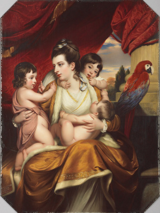Lady Cockburn and her three eldest sons, after Reynolds