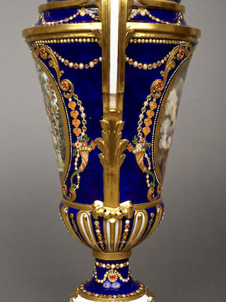 Garniture of Three Vases and Covers, Detail of Vase 'E de 1780'