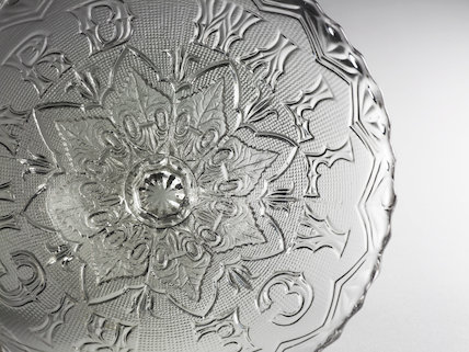 Detail of a Commemorative Glass Dish