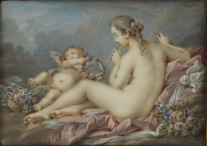 A Muse and a Cupid, after Boucher