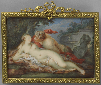 Jupiter in the shape of a Satyr surprises Antiope