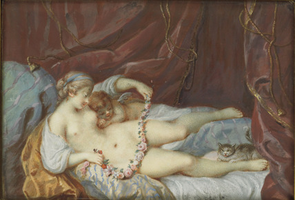 Venus and Cupid reposing