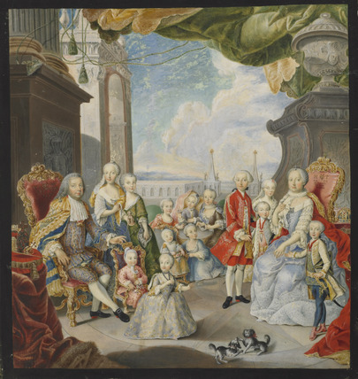 The Empress Maria Theresa, the Emperor Francis I, and their Family, after van Mytens,