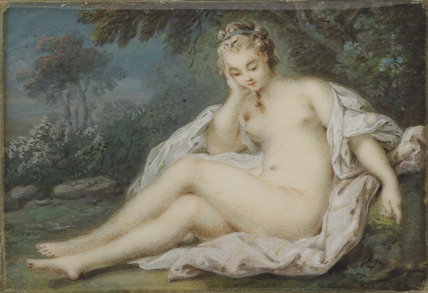 A Nymph musing in a forest