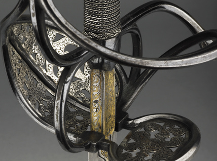 Detail from sword with scabbard
