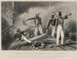 'Blowing up of the Cashmere Gate at Delhi', Indian Mutiny, 1857