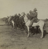 'Australian Mounted Rifles just before the taking of Belmont, South Africa', 1899