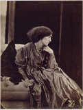 Jane Morris seated, leaning Forward