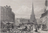 Graphic Illustrations of Warwicksire: High Street Market, Birmingham