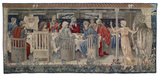Quest for the Holy Grail Tapestries - Panel 1 - Knights of the Round Table Summoned to the Quest by the Strange Damsel