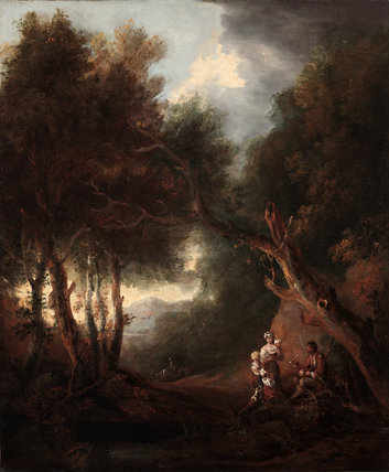 A Wooded Landscape, Autumn Evening, probably c.1800