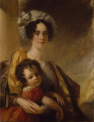 Mrs John Clerk Maxwell (neé Frances Cay) and her son James