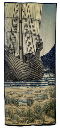 Quest for the Holy Grail Tapestries - Panel 5 - The Ship