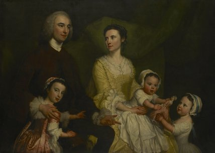 Dr Samuel Wathen With His Wife And Children