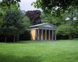 A view of the Doric Temple in the grounds at Shugborough Hall