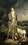 MR. TRAFFORD OUT SHOOTING WITH HIS DOG by Philip Reinagle, from the Staircase at Newton House