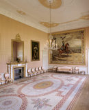 Peter the Great Room at Blickling Hall, with the tapestry of Peter the Great triumphing over the Swedes in 1709