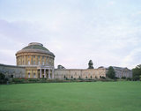 The North Front of Ickworth House in Suffolk photographed in evening light