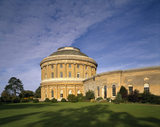 The South Front of Ickworth in Suffolk, showing the central rotunda and curved corridor