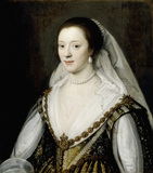 PORTRAIT OF FRANCES COKE, VISCOUNTESS PURBECK (1601-1645) by Michiel Janszoon van Miereveldt