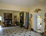 Looking east towards the fireplace in the Entrance Hall at Hinton Ampner